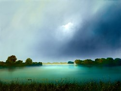 Reservoir Reflections by Barry Hilton -  sized 32x24 inches. Available from Whitewall Galleries